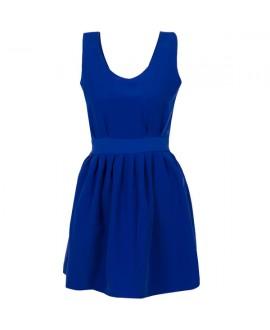 Κοντό Βαμβακερό Φόρεμα με Δέσιμο στη Μέση