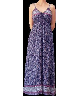 Μακρύ Βαμβακερό Φόρεμα με Τιράντα - SOLD OUT!!!