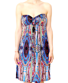 b0ad782ac5f7 Κοντό Στράπλες Φόρεμα Ζέρσεϋ σε XL Μέγεθος