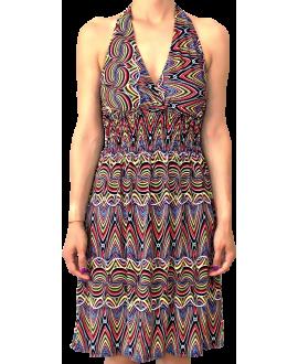 Κοντό Φόρεμα Ζέρσεϋ σε XL Μέγεθος με δέσιμο στο λαιμό