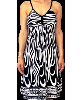 Κοντό Φόρεμα Ζέρσεϋ σε XL Μέγεθος με Τιράντα Πλεξίδα