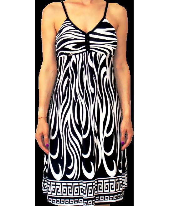 e118467ea04e Κοντό Φόρεμα Ζέρσεϋ σε XL Μέγεθος με Τιράντα Πλεξίδα